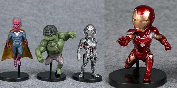 Pack 6 mini-figuras de Los Vengadores Marvel