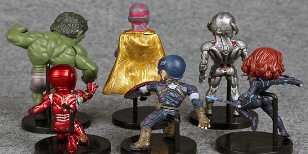 Comprar Pack 6 mini-figuras de Los Vengadores Marvel barato en AliExpress