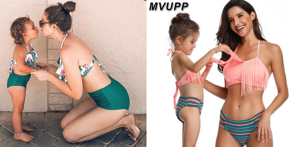 Set de Bikinis conjuntados para madre e hija barato en AliExpress