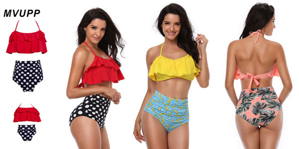 Set de Bikinis conjuntados para madre e hija chollazo en AliExpress