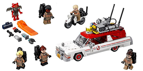 Set Coche Cazafantasmas + 5 minifiguras tipo LEGO barato