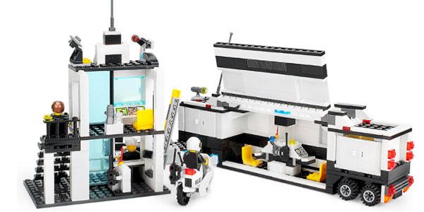 Playset de tipo LEGO con un camión y comisarái de policía a muy buen precio