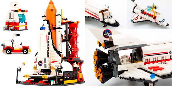 Set Lanzadera y transbordador espacial de tipo LEGO barato
