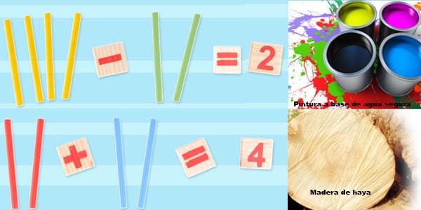 Set de madera de aprendizaje infantil de matemáticas Montessori barato