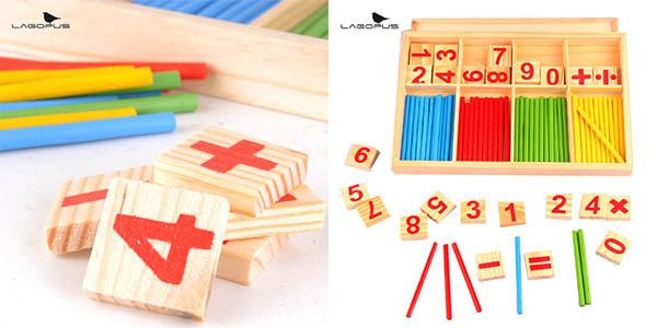 Set de madera de aprendizaje Montessori números