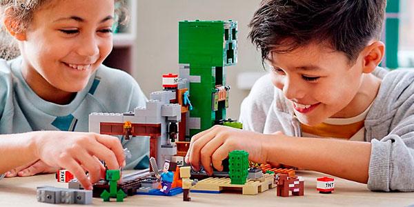 Set La Mina del Creeper de Minecraft tipo LEGO barato