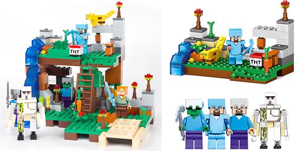 Set Minecraft estilo LEGO barato