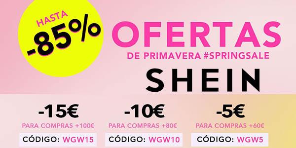 Shein cupón descuento para ropa en las ofertas de primavera 2018