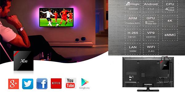 Smart TV-Box X96 de 2 GB en oferta