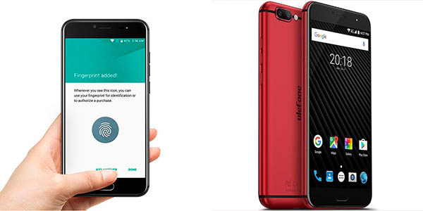Smartphone Ulefone T1 en color rojo