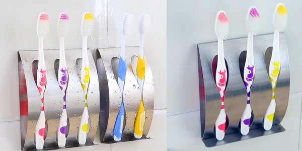 Soporte de pared para cepillos de dientes chollo en AliExpress