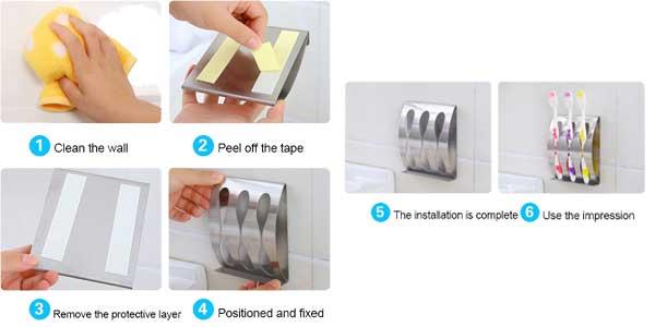 Soporte de pared para cepillos de dientes barato