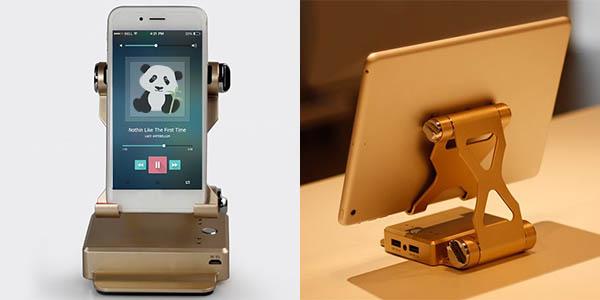 Batería portátil con altavoz bluetooth y soporte para smartphone barato