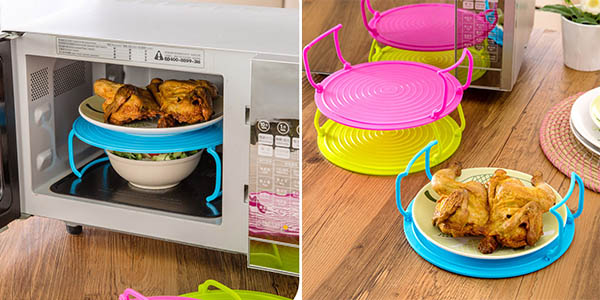 practica bandeja separador 2 platos para microondas