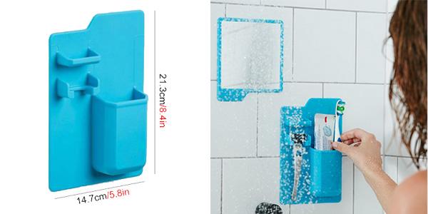 Soporte de baño JILIDA para pasta y cepillo de dientes y maquinilla de afeitar chollazo en AliExpress