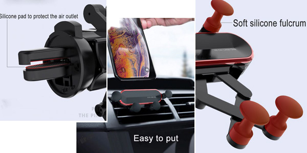 Soporte de coche para smartphone con brazos articulados chollo en AliExpress