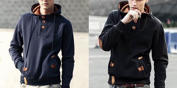 Sudadera de algodón con capucha para hombre