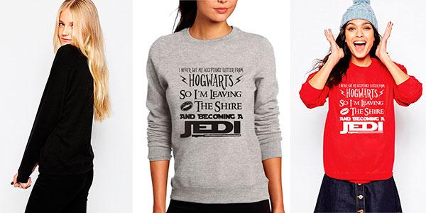 Sudadera para mujer de Star Wars, Harry Potter y El Señor de los Anillos
