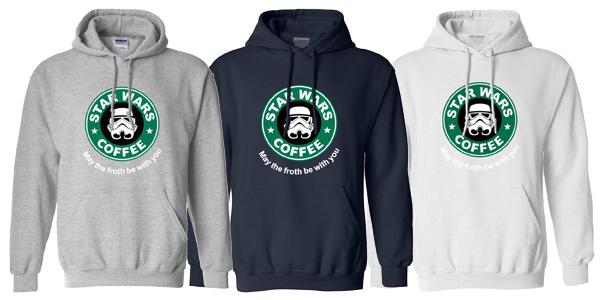 Sudadera con capucha para hombre Star Wars Cofee chollo en AliExpress