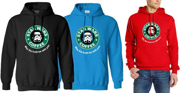 Sudadera con capucha para hombre Star Wars Cofee barata en AliExpress
