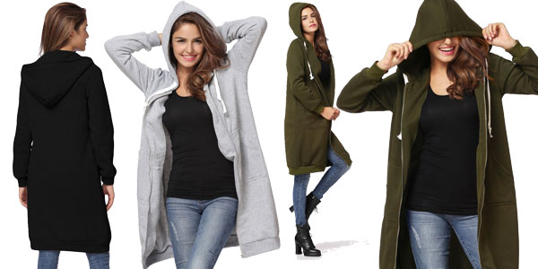 Sudadera oversize con capucha grande para mujer barata en AliExpress