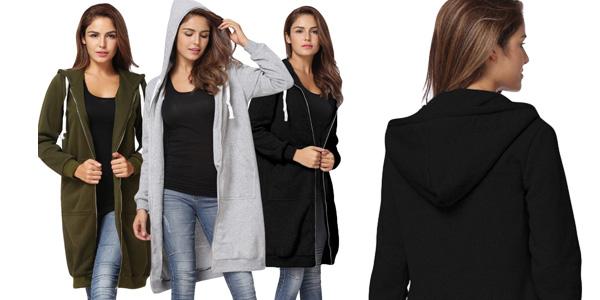 Sudadera oversize con capucha grande para mujer chollo en AliExpress