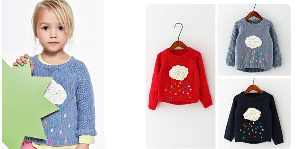 Suéter infantil de punto Sorrynam barato en AliExpress
