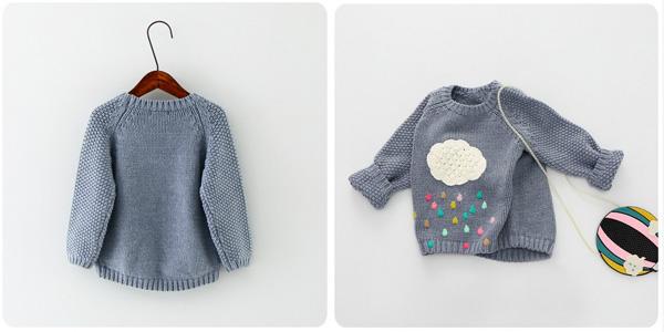 Suéter infantil de punto Sorrynam chollo en AliExpress