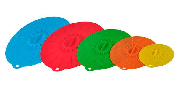 Set 5 tapas de silicona Walfo para cacerolas chollo en AliExpress