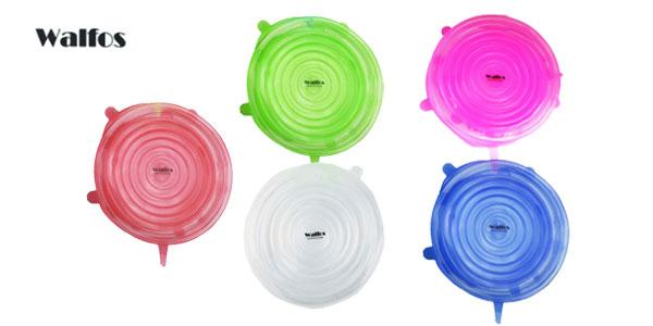 Pack 6 tapas silicona flexibles Walfos baratas en AliExpress