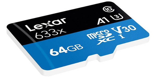 Tarjeta microSD Lexar 633X de 64 GB barata