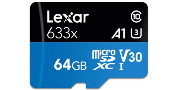 Tarjeta microSD Lexar 633X de 64 GB
