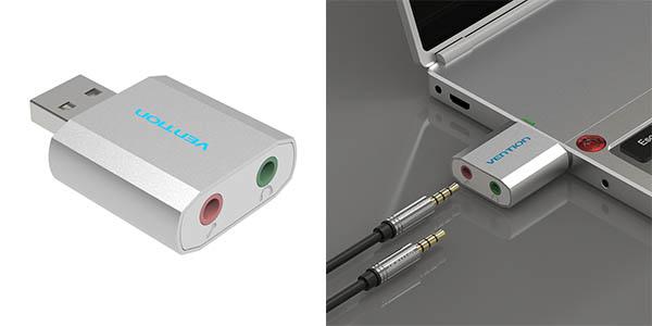 Tarjeta de sonido USB Vention barata