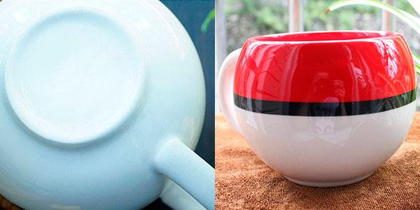 Taza cerámica de desayuno PokéBall de 320 ml barata