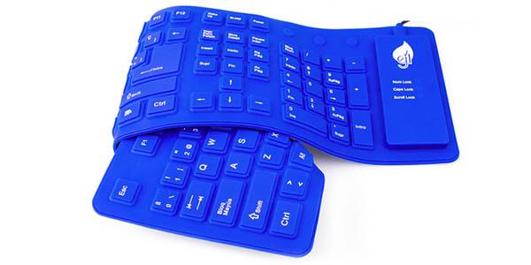 Teclado USB flexible y resistente al agua
