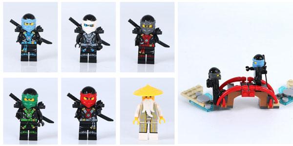 Templo Ninjago tipo LEGO chollo en AliExpress