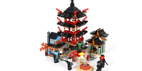 Templo Ninjago tipo LEGO barato en AliExpress
