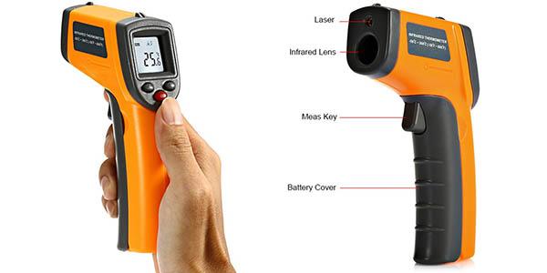 Termómetro infrarrojo sin contacto GS320 en Rosegal