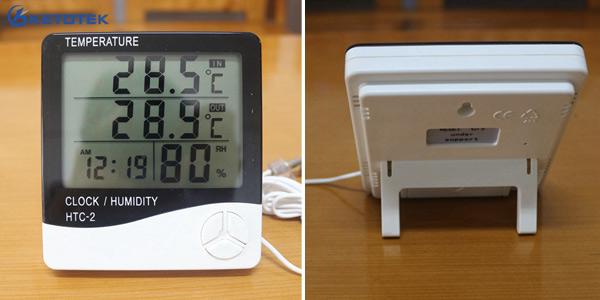 Termómetro-higrómetro digital Ketotek con pantalla LCD
