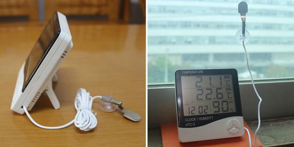 Termómetro-higrómetro digital Ketotek con pantalla LCD barato