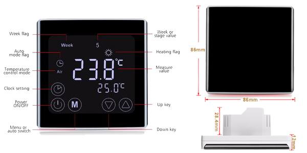 Termostato programable con pantalla táctil chollo en AliExpress