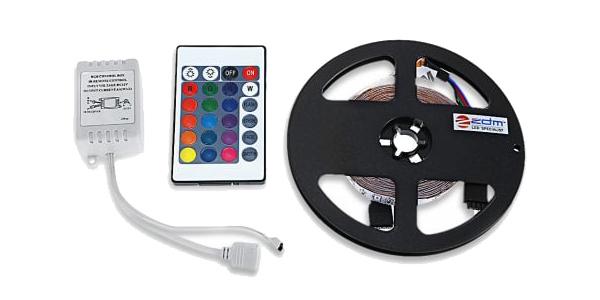 Tira LED 5 metro con control remoto barata en DressLily