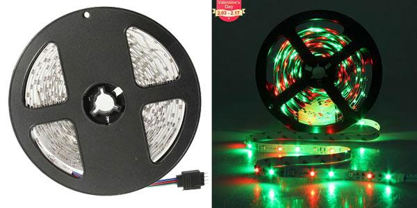 Tira LED SMD de 5 metros con 300 luces LEDs chollo en Banggood