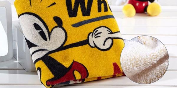 Toalla estamapada de Mickey Mouse de 34 x 76 cm chollazo en AliExpress
