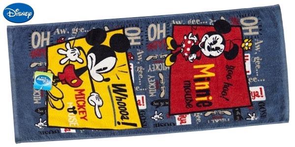 Toalla estamapada de Mickey Mouse de 34 x 76 cm chollo en AliExpress