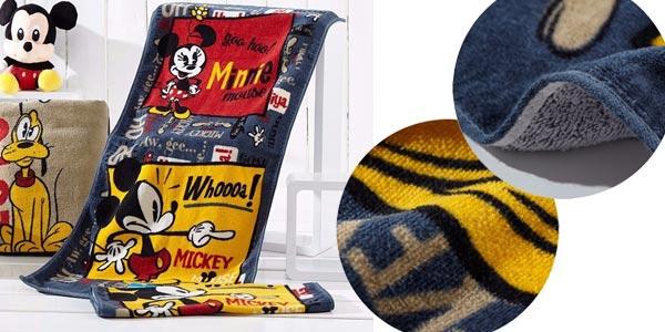 Toalla estamapada de Mickey Mouse de 34 x 76 cm barata en AliExpress