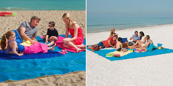 Toalla de playa extensible