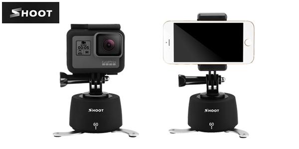 Trípode Shoot para grabación 360º para smartphone o cámaras deportivas en AliExpress