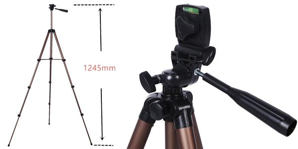 Trípode de cámara + adaptador smartphone + bolsa de transporte chollo en AliExpress
