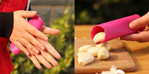 utensilio para pelar dientes de ajo sencillo rapido y limpio